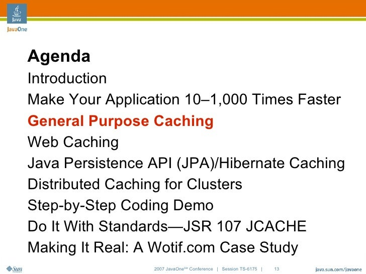 Distributed Caching Using the JCACHE
