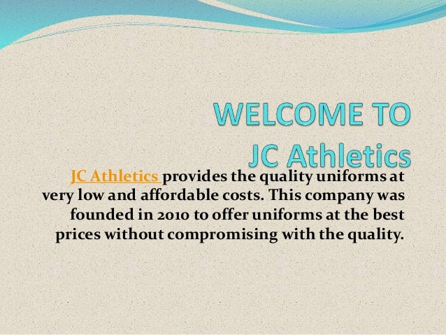 JC Athletics provides the quality uniforms at very low and affordable costs. This company was founded in 2010 to offer uni...