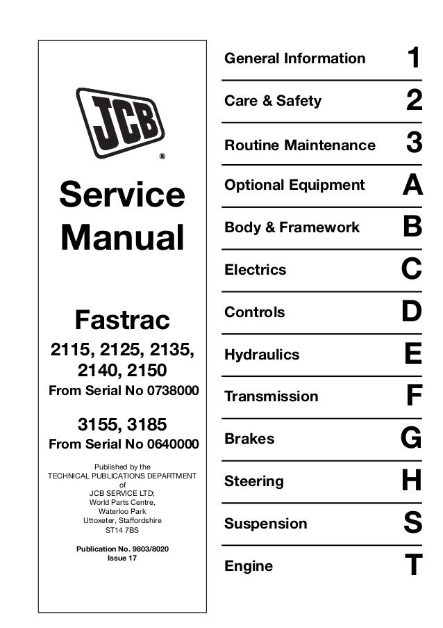 jcb 3155 fastrac service repair manual sn 00642001 00643010 rh slideshare net
