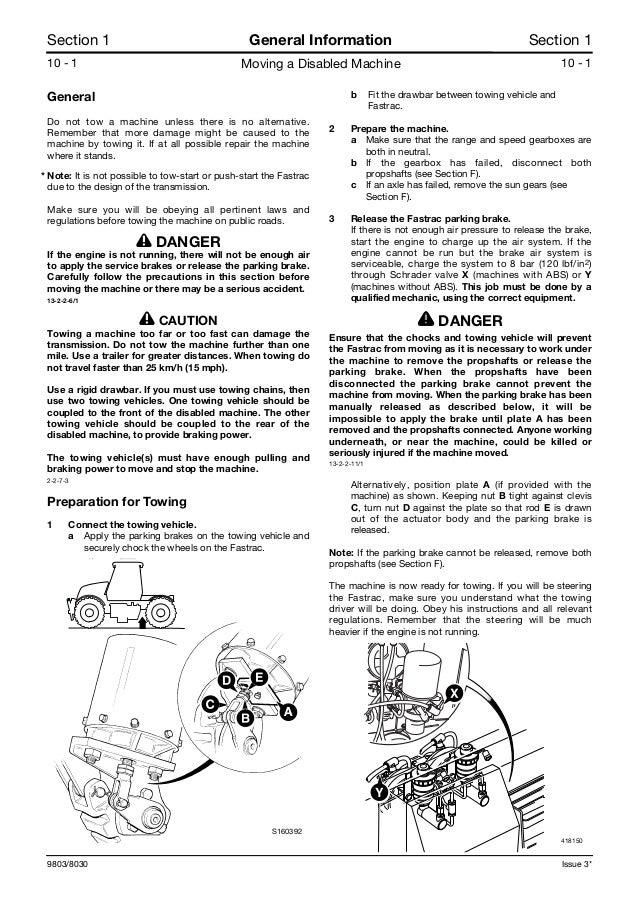 Jcb 3220 plus fastrac service repair manual