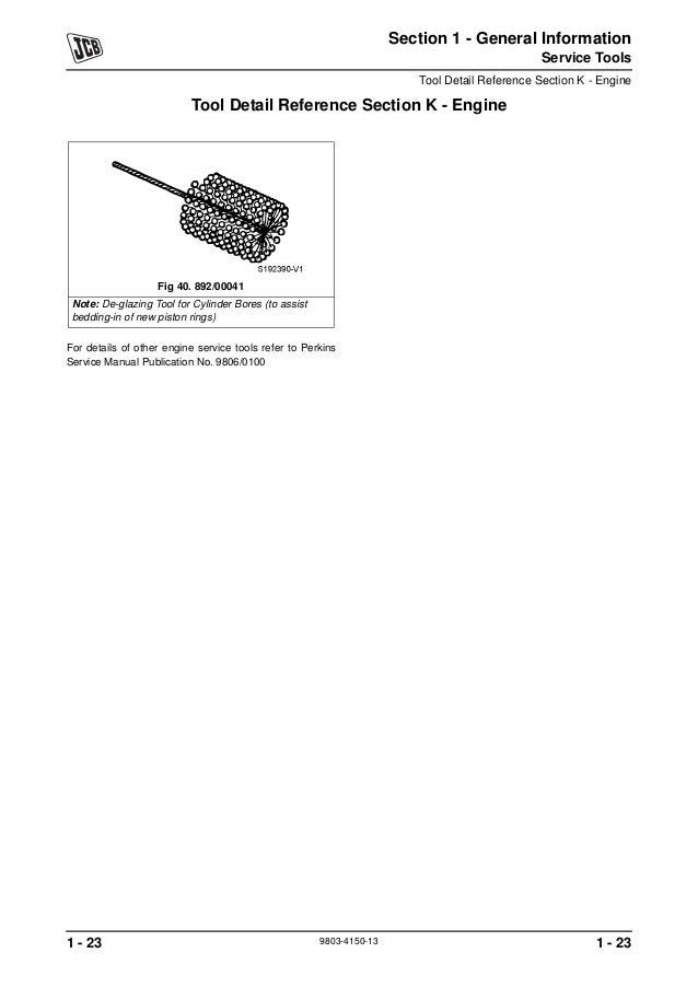 Jcb 416 wheeled loader service repair manual sn:m1243000