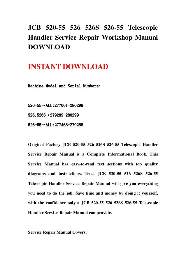 jcb 526s parts manual