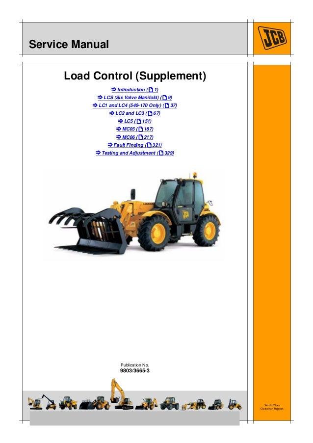 jcb 527 55 s load control supplement service repair manual rh slideshare net JCB 550 Operators Manual JCB 532 Manual Serial 0778116
