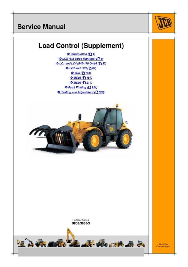 jcb 540 140 load control (supplement) service repair manual 743 Bobcat Wiring Schematic
