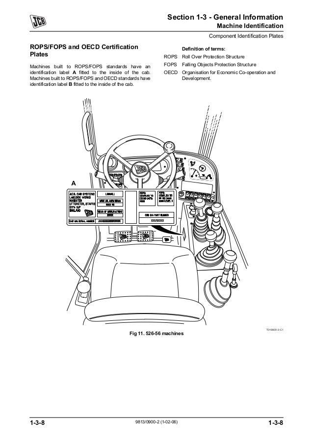 Jcb 550 t80 telescopic handler service repair manual sn