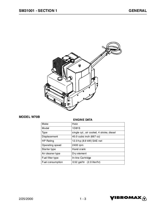 Jcb 70 b walk behind roller service repair manual
