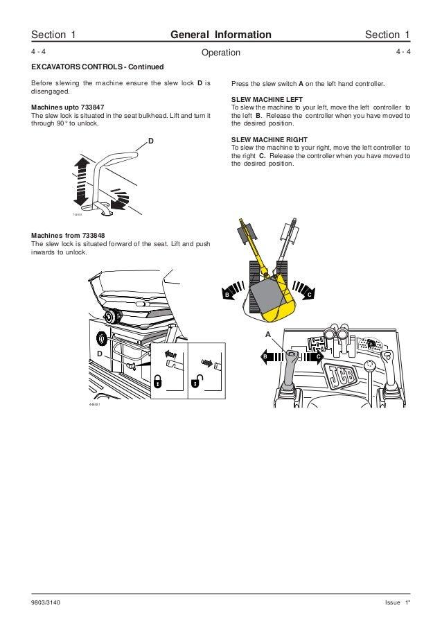 Jcb 802.4 mini excavator service repair manual sn(732450