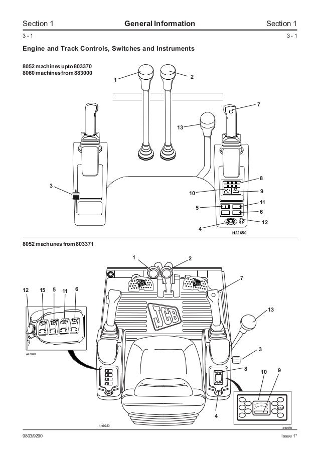 Jcb 8052 midi excavator service repair manual sn1178000