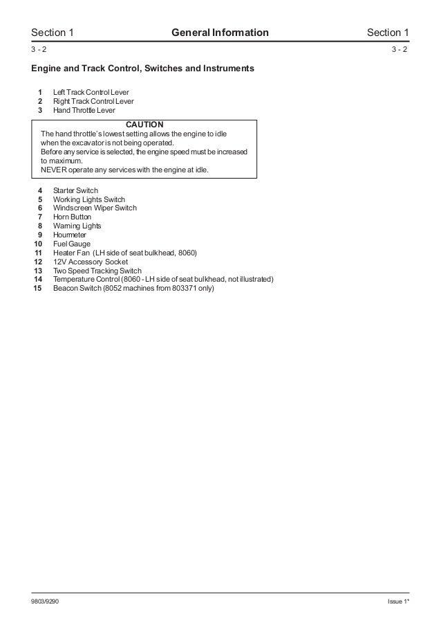 jcb 8060 midi excavator service repair manual sn1236000