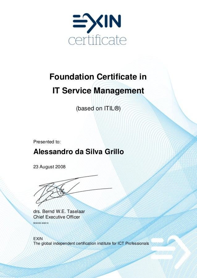 20080826 Itv2 F It Service Management Foundation Based On Itil