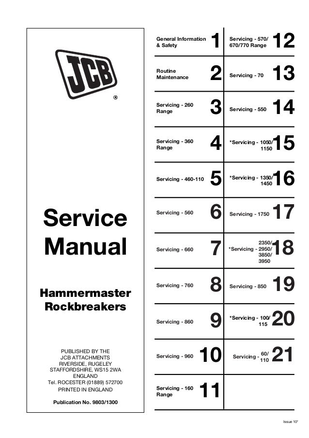 jcb hammermaster 260 range rockbreakers service repair manual rh slideshare net JCB Dealer Locator JCB Equipment Rental
