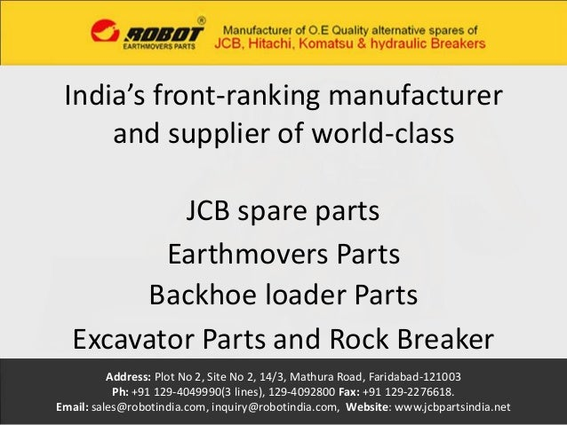 JCB Parts, Earthmovers Parts, JCB Aftermarket Parts, Backhoe