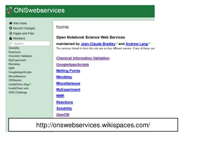 http://onswebservices.wikispaces.c om/ http://onswebservices.wikispaces.com/