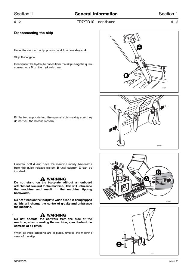 Jcb tracked dumpster td7 service repair manual sn:1008000