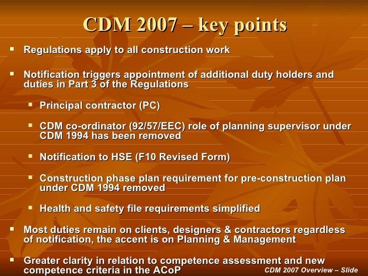 cdm planning supervisor