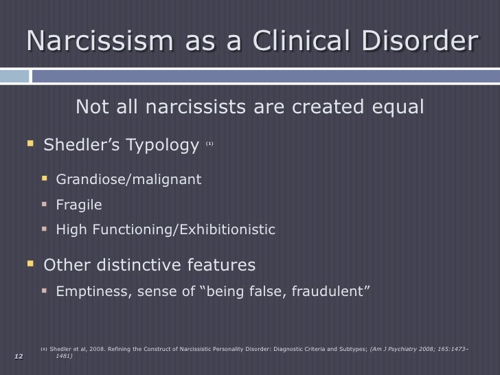 Malignant narcissistic personality