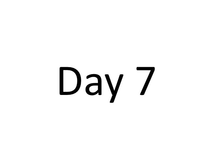 Day 7<br />