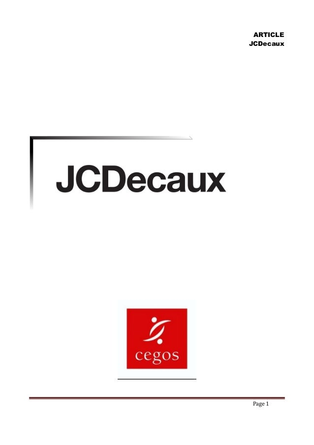 ARTICLE JCDecaux  Page 1