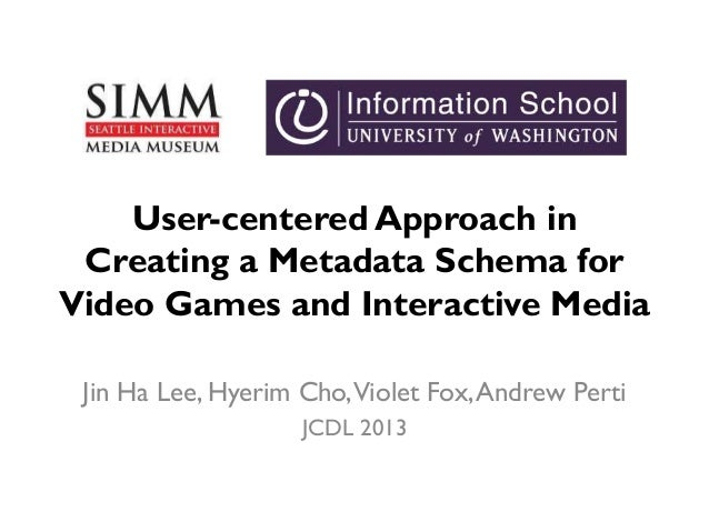 User-centered Approach in Creating a Metadata Schema for Video Games and Interactive Media Jin Ha Lee, Hyerim Cho,Violet F...