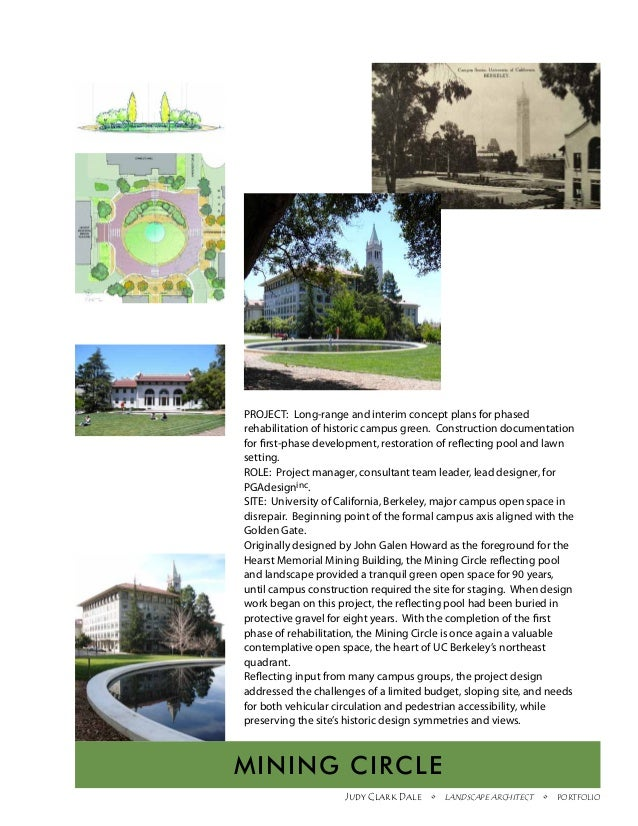 PROJECT: Long-range and interim concept plans for phasedrehabilitation of historic campus green. Construction documentatio...