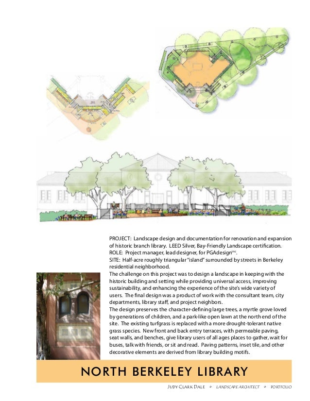 PROJECT: Landscape design and documentation for renovation and expansion   of historic branch library. LEED Silver, Bay-Fr...