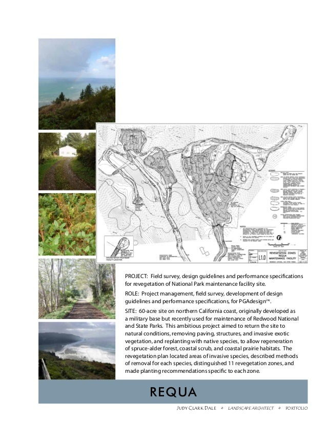 PROJECT: Field survey, design guidelines and performance specificationsfor revegetation of National Park maintenance facil...