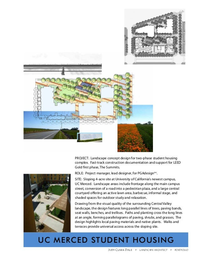 PROJECT: Landscape concept design for two-phase student housing      complex. Fast-track construction documentation and su...