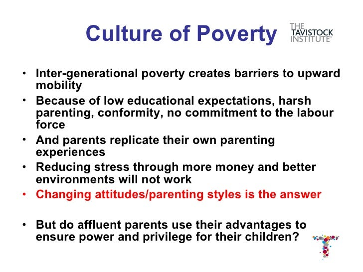 The Myth of the Culture of Poverty