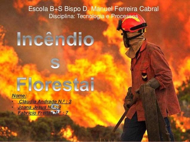 Escola B+S Bispo D. Manuel Ferreira Cabral  Disciplina: Tecnologia e Processos  Nome:  • Cláudia Andrade N.º : 3  • Joana ...
