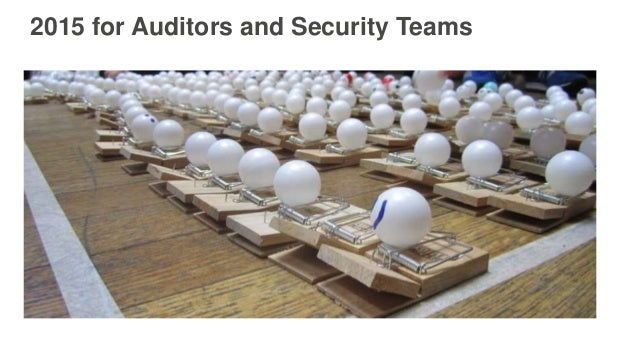 Splitting the Check on Compliance and Security Slide 3