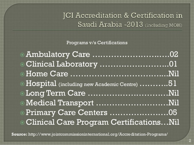 Jci Accreditation Ambulatory Manual