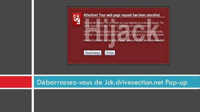 Débarrassez-vous de Jck.drivesection.net Pop-up