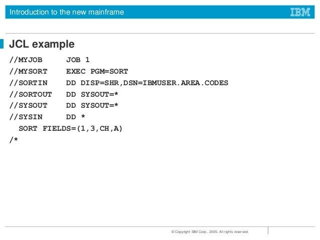 JCL TUTORIAL IBM JCL MAINFRAME JCL INTRODUCTION BASICS