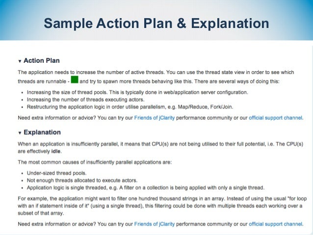 Sample Action Plan & Explanation
