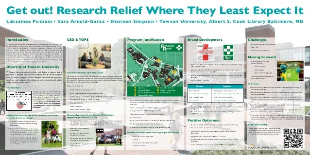 Get out! Research Relief Where They Least Expect ItLaksamee Putnam • Sara Arnold-Garza • Shannon Simpson • Towson Universi...