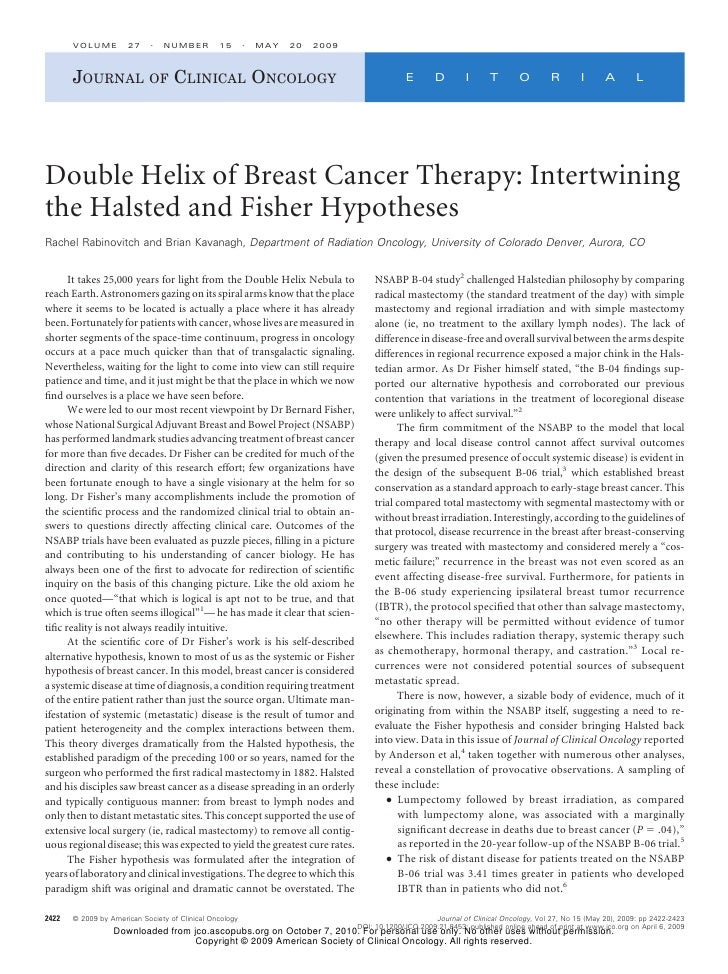 VOLUME         27        NUMBER          15       MAY   20   2009           JOURNAL OF CLINICAL ONCOLOGY                  ...