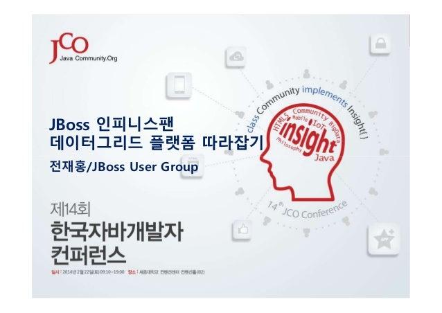 JBoss 인피니스팬 데이터그리드 플랫폼 따라잡기 전재홍/JBoss User Group