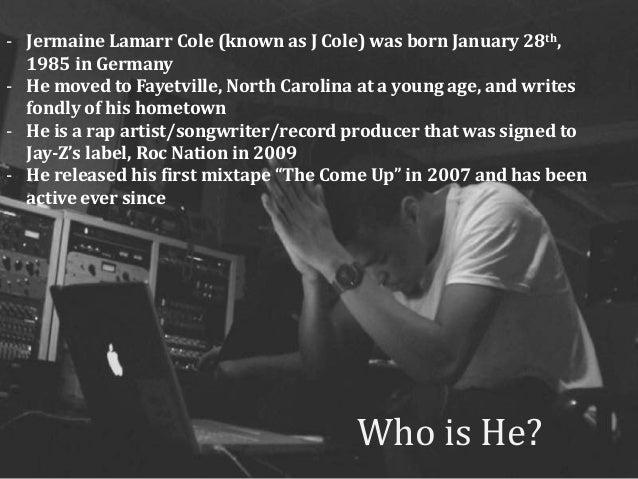 COMM 2F00: J Cole