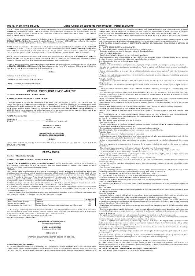 5HFLIH  GH MXQKR GH  'LiULR 2ILFLDO GR (VWDGR GH 3HUQDPEXFR  3RGHU ([HFXWLYR  Nº 1178 - Considerar autorizado o afastament...