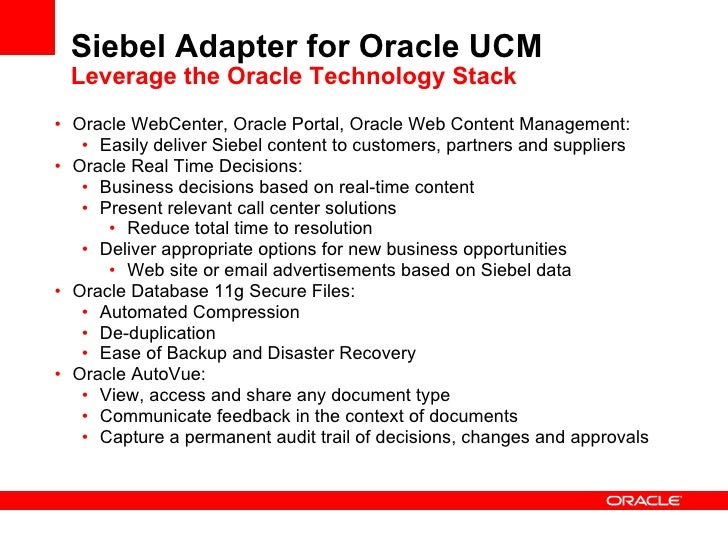 Oracle Enterprise 2.0 & Business Applications