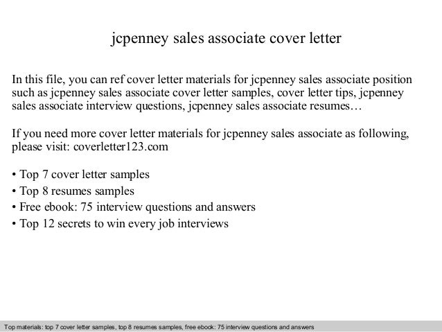 Jcpenney Sales Associate Cover Letter In This File, You Can Ref Cover Letter  Materials For ...  Cover Letter Sales Associate