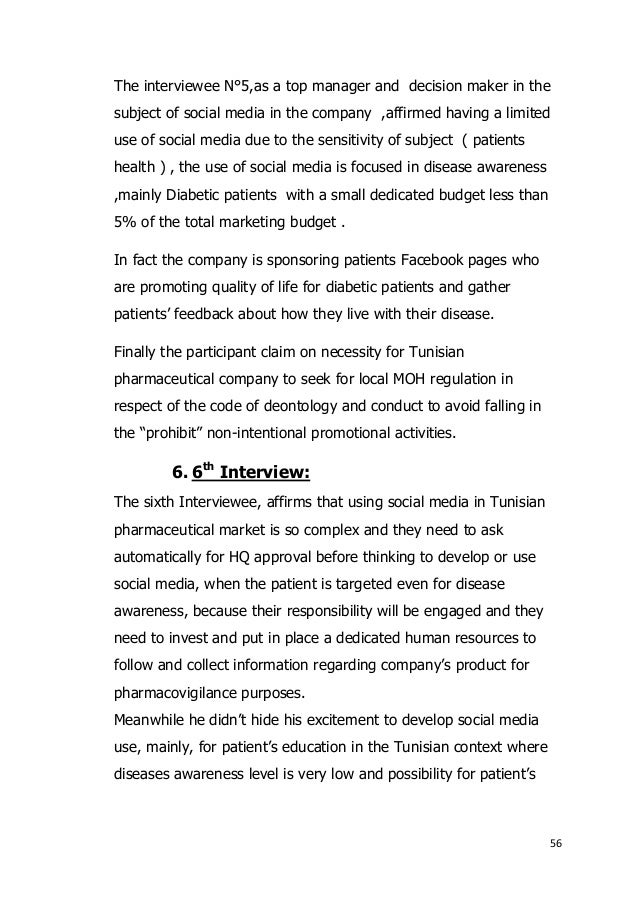 Perception of the use of social media for disease awareness in tunisi 5th interview 56 fandeluxe Images