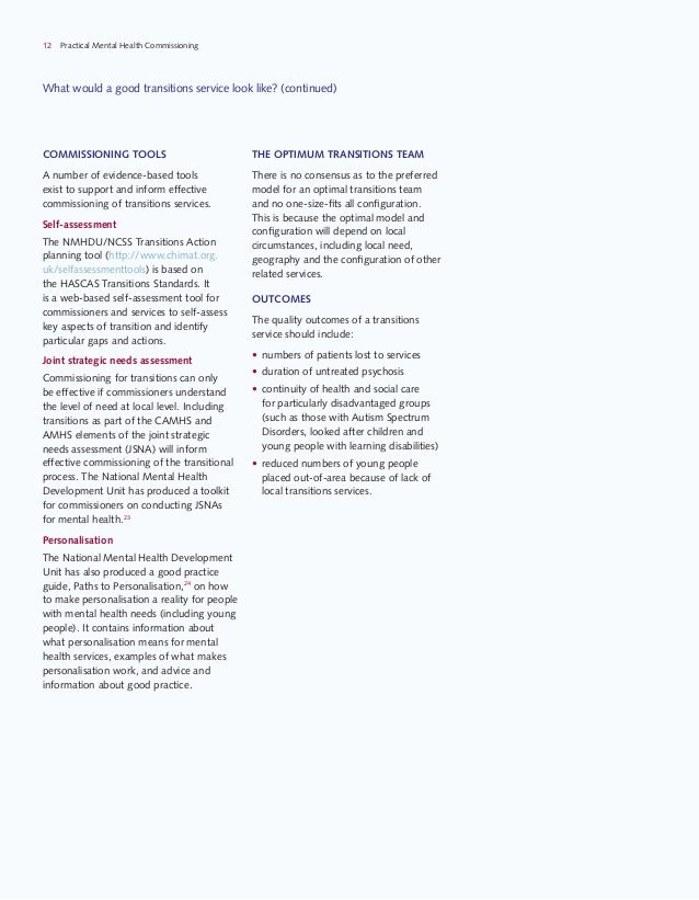Guide Transition And Mental Health Needs >> Guidance For Commissioners Of Mental Health Services For Young People