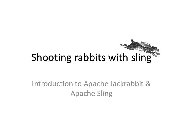 Shooting rabbits with sling Introduction to Apache Jackrabbit & Apache Sling