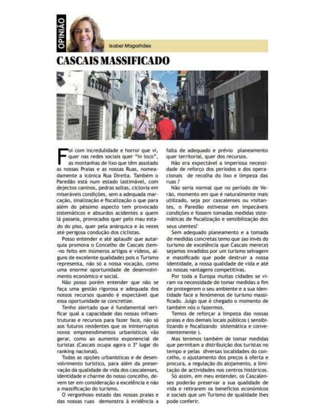 Cascais Massificado - por Isabel Magalhães