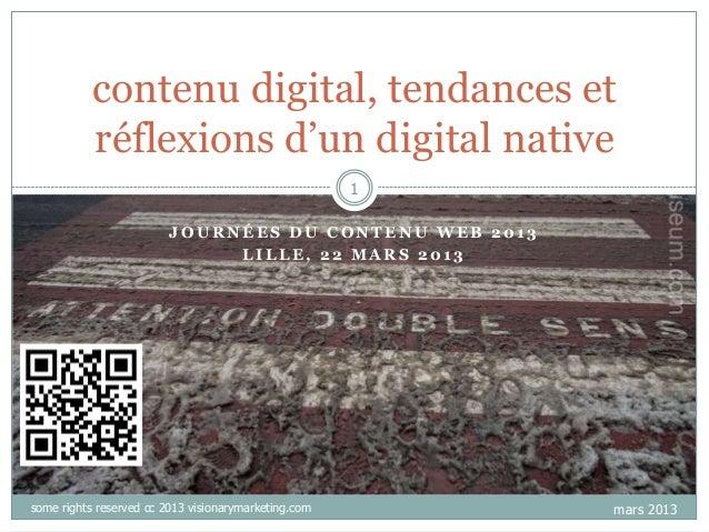 "contenu digital, tendances et           réflexions d""un digital native                                                    ..."