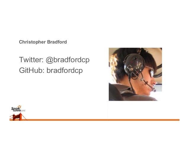 Christopher Bradford Twitter: @bradfordcp GitHub: bradfordcp