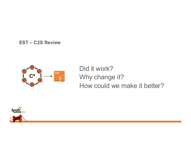 EST – C2S Review Did it work? Why change it? How could we make it better?