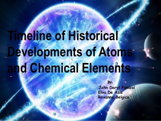 Timeline of historical development of atoms and chemical elements 01 timeline of historical developments of atoms and chemical elements by john daryl panizal elva urtaz Image collections