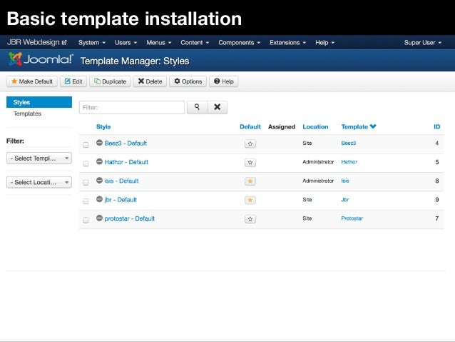 Install Bootstrap Joomla